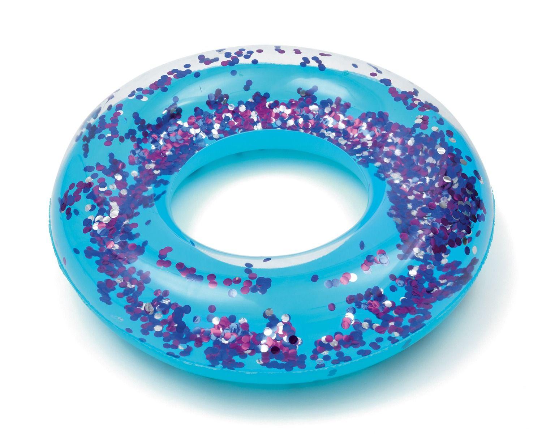 Ciambella gonfiabile Glitter Fusion Blu