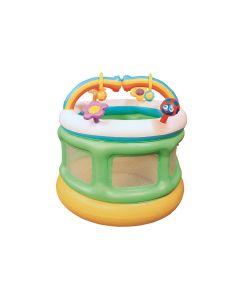 Box bambini con arcobaleno e giochi