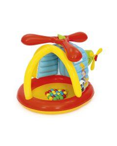 Elicottero gonfiabile con 25 palline per bambini