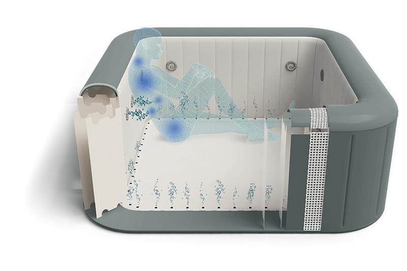 Come è composto e come funziona un idromassaggio gonfiabile Lay-Z-Spa