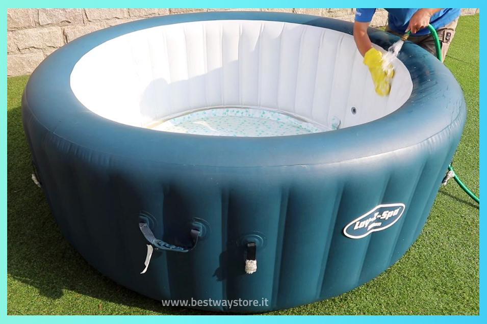 manutenzione pulizia piscina idromassaggio