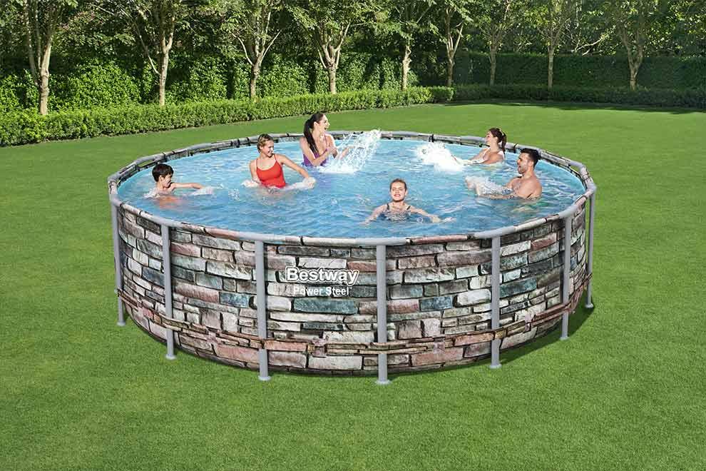 piscina-fuori-terra-Steel-Pro-effetto-pietra